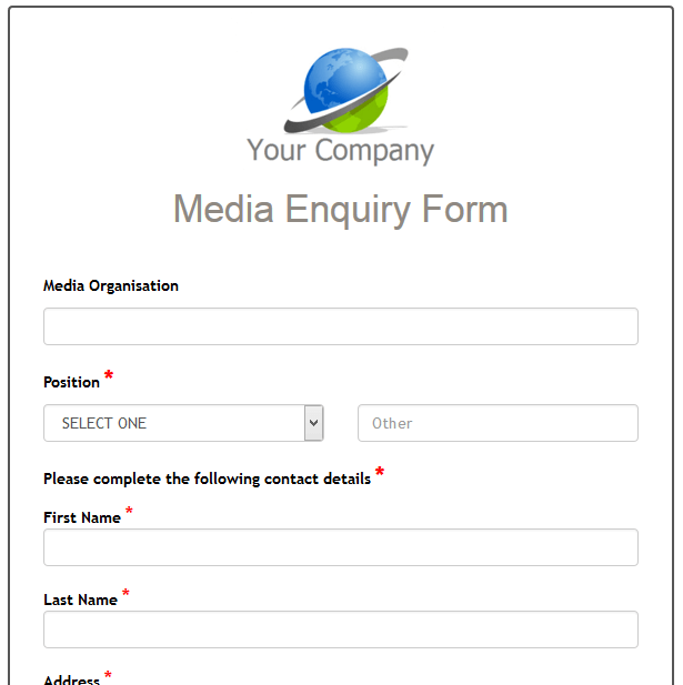 Media Enquiry Form