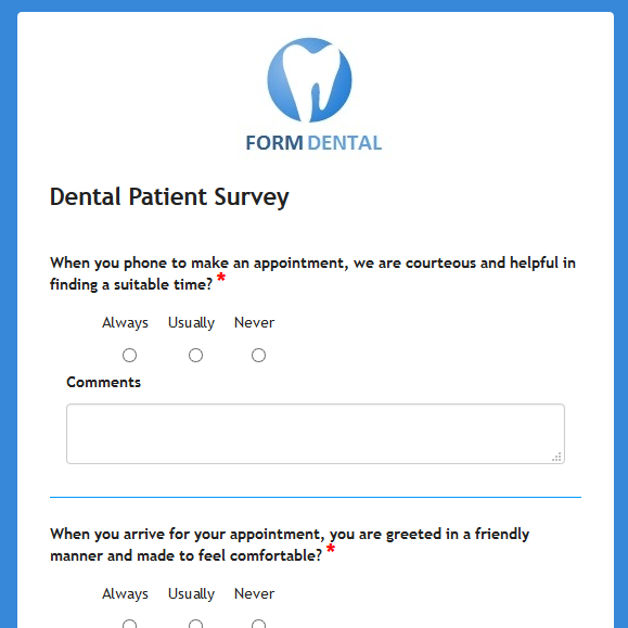 Dental Patient Survey