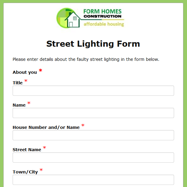 Street Lighting Survey