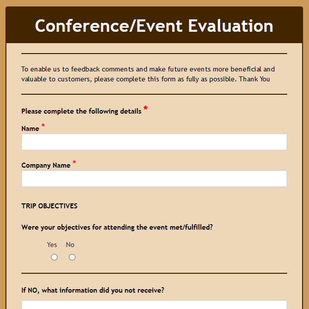 Conference/Event Feedback