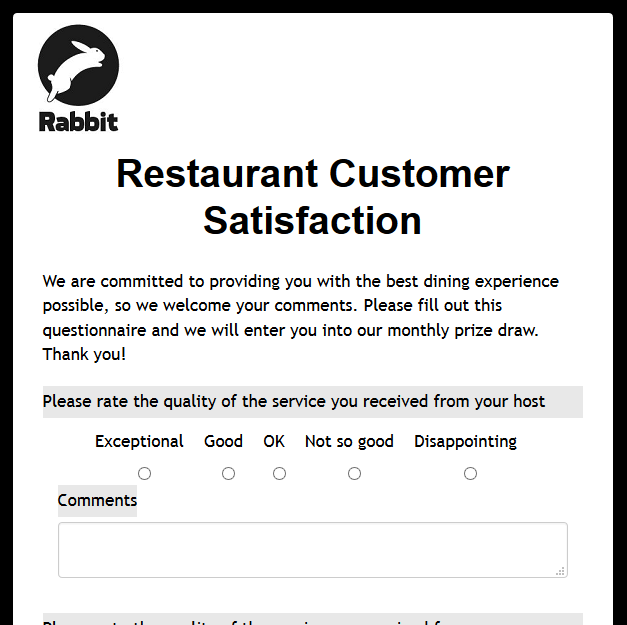 Restaurant Customer Satisfaction
