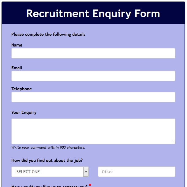 Recruitment Enquiry Form
