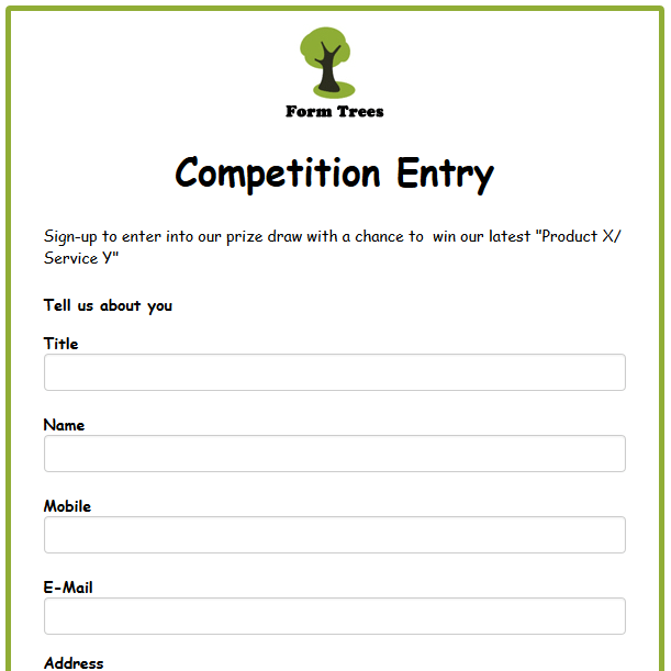 Competition Form