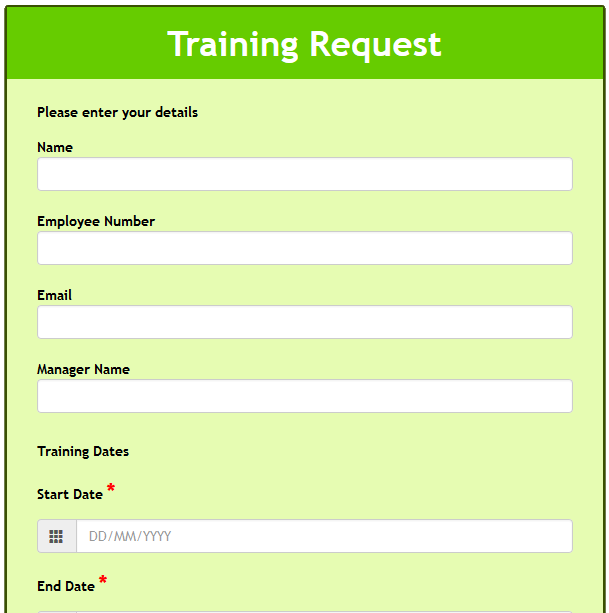 Training Request
